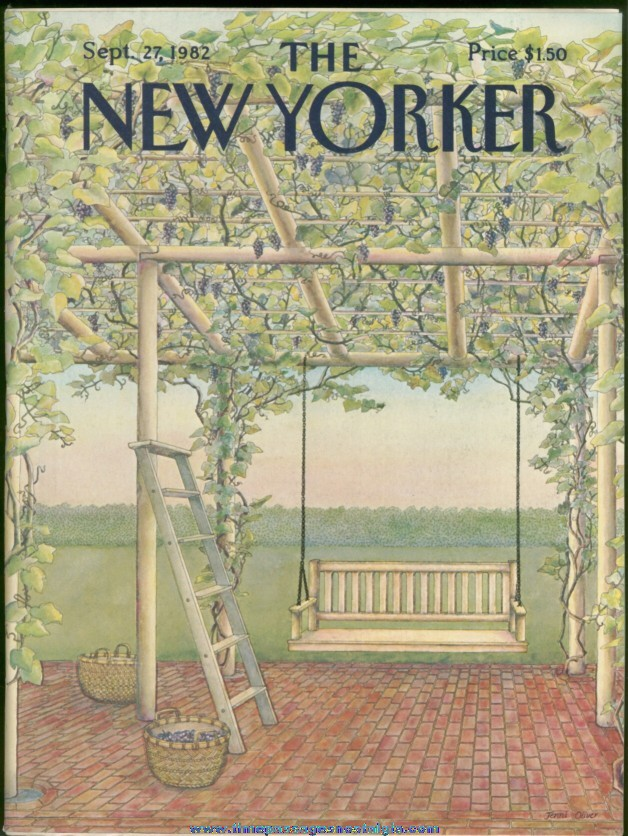 New Yorker Magazine - September 27, 1982 - Cover by Jenni Oliver
