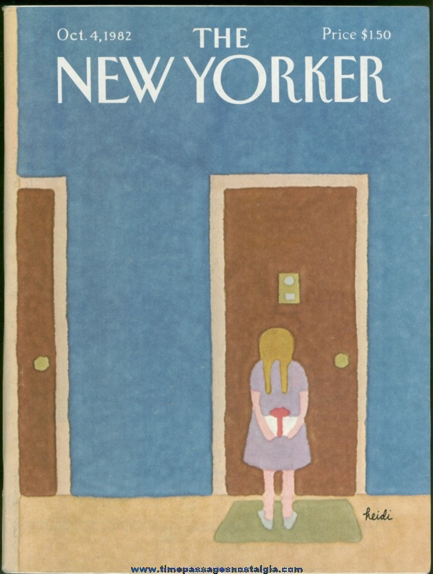 New Yorker Magazine - October 4, 1982 - Cover by Heidi Goennel