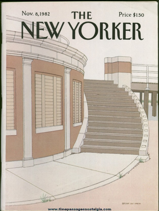 New Yorker Magazine - November 8, 1982 - Cover by Gretchen Dow Simpson