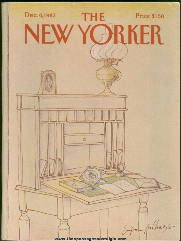 New Yorker Magazine - December 6, 1982 - Cover by Eugene Mihaesco