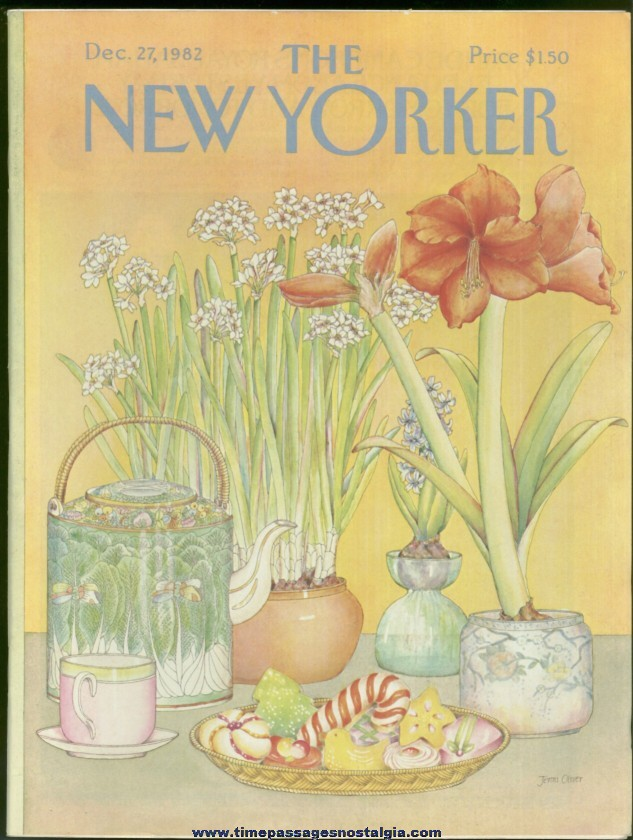 New Yorker Magazine - December 27, 1982 - Cover by Jenni Oliver