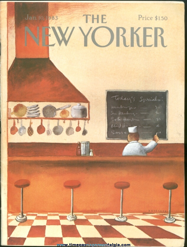 New Yorker Magazine - January 10, 1983 - Cover by Abel Quezada