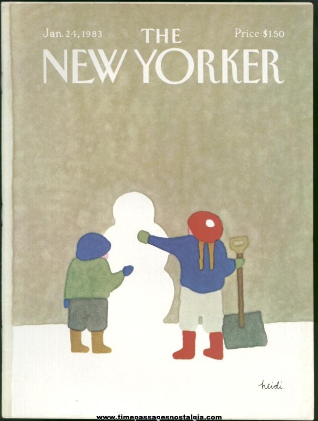 New Yorker Magazine - January 24, 1983 - Cover by Heidi Goennel