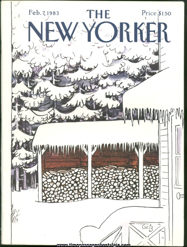 New Yorker Magazine - February 7, 1983 - Cover by Arthur Getz