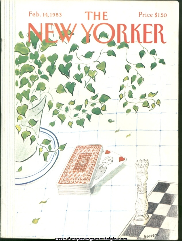 New Yorker Magazine - February 14, 1983 - Cover by J. J. Sempe