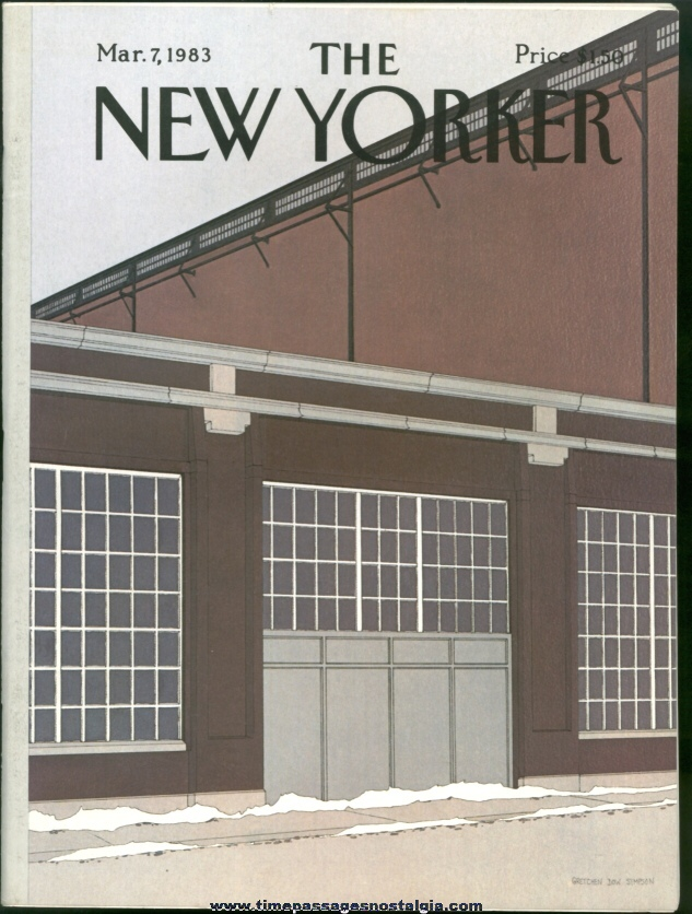 New Yorker Magazine - March 7, 1983 - Cover by Gretchen Dow Simpson