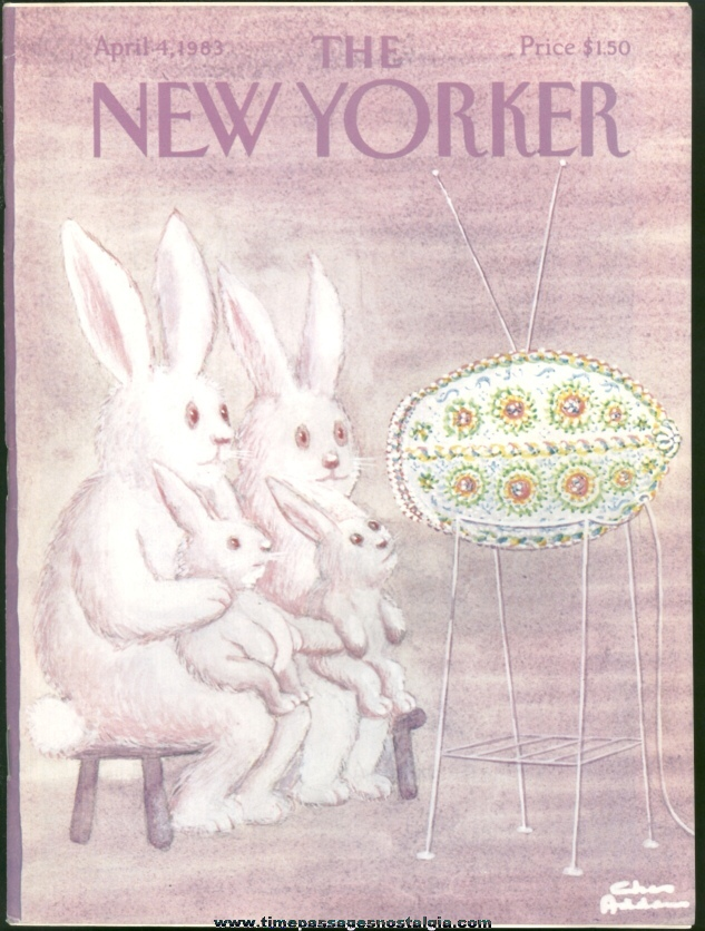 New Yorker Magazine - April 4, 1983 - Cover by Charles (Chas) Addams