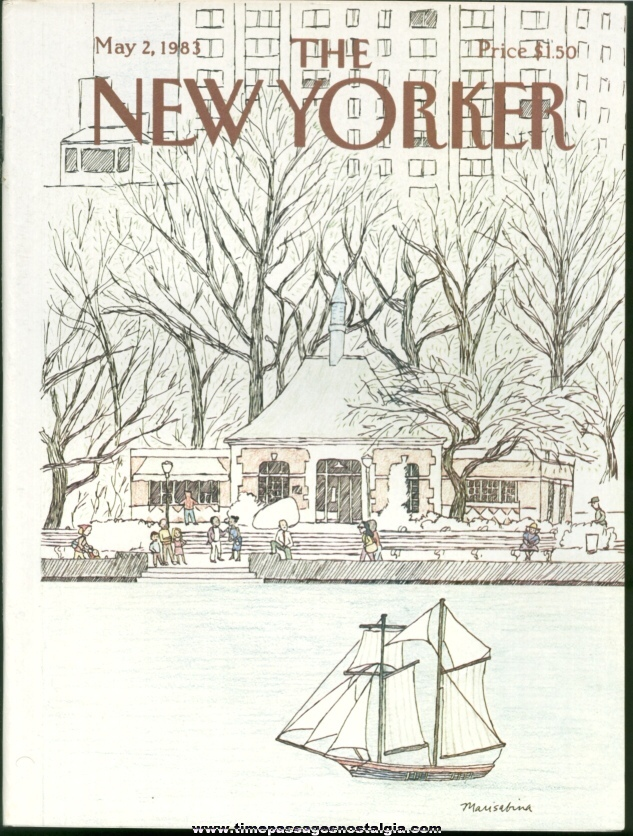 New Yorker Magazine - May 2, 1983 - Cover by Marisabina Russo