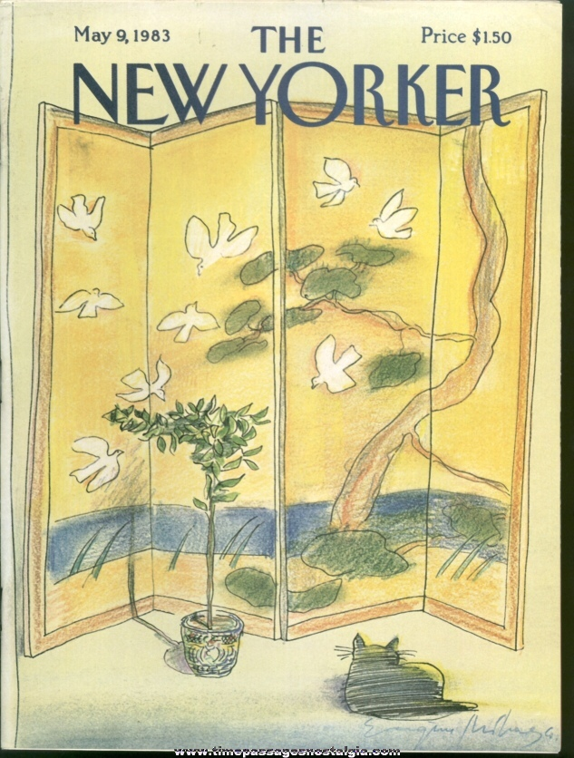 New Yorker Magazine - May 9, 1983 - Cover by Eugene Mihaesco