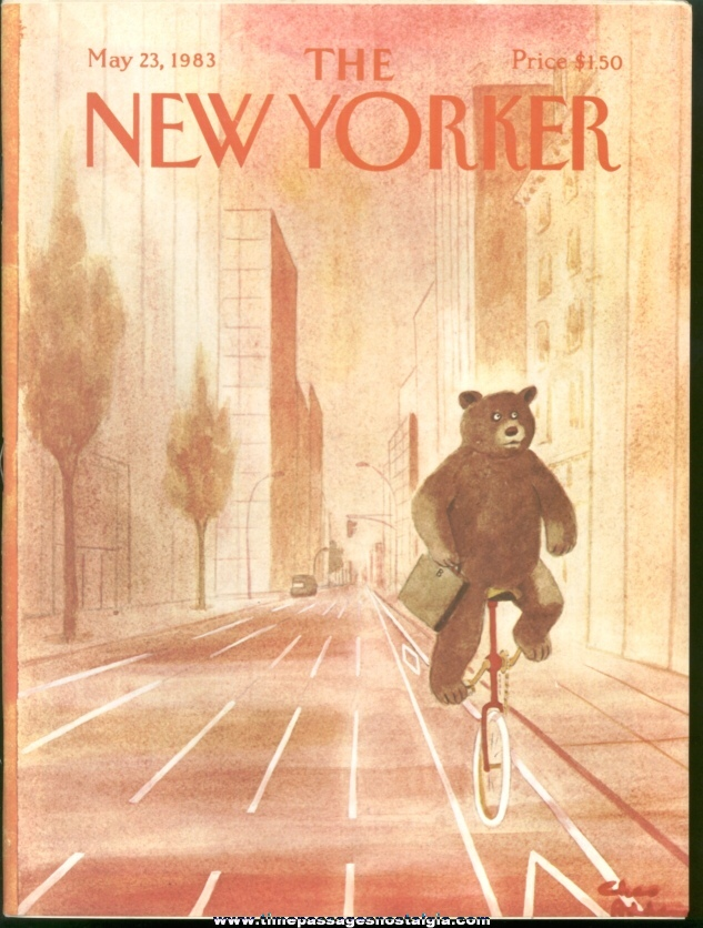 New Yorker Magazine - May 23, 1983 - Cover by Charles (Chas) Addams