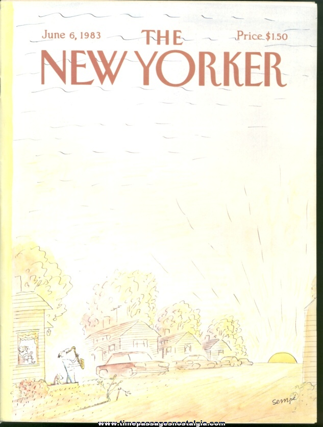 New Yorker Magazine - June 6, 1983 - Cover by J. J. Sempe