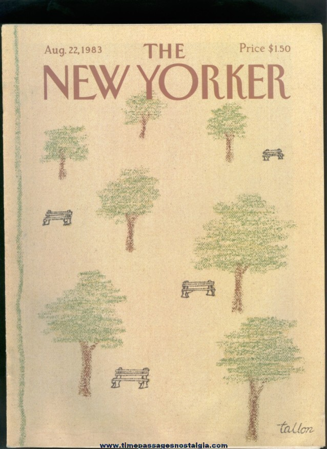 New Yorker Magazine - August 22, 1983 - Cover by Robert Tallon