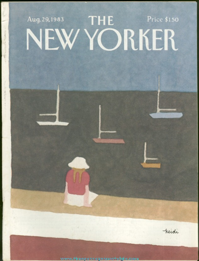 New Yorker Magazine - August 29, 1983 - Cover by Heidi Goennel