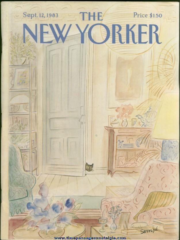 New Yorker Magazine - September 12, 1983 - Cover by J. J. Sempe