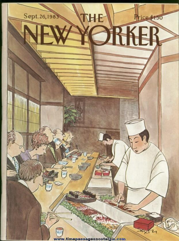New Yorker Magazine - September 26, 1983 - Cover by Charles Saxon