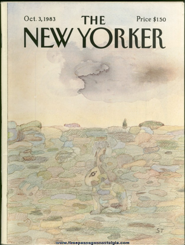 New Yorker Magazine - October 3, 1983 - Cover by Saul Steinberg