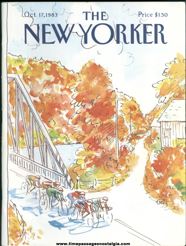 New Yorker Magazine - October 17, 1983 - Cover by Arthur Getz