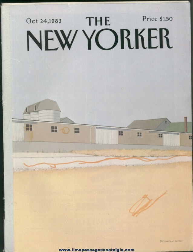 New Yorker Magazine - October 24, 1983 - Cover by Gretchen Dow Simpson