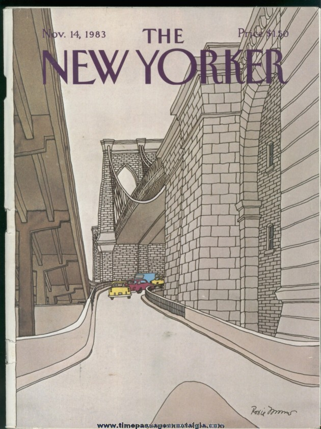 New Yorker Magazine - November 14, 1983 - Cover by Roxie Munro