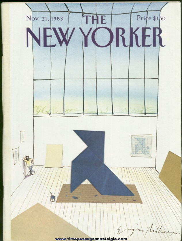 New Yorker Magazine - November 21, 1983 - Cover by Eugene Mihaesco