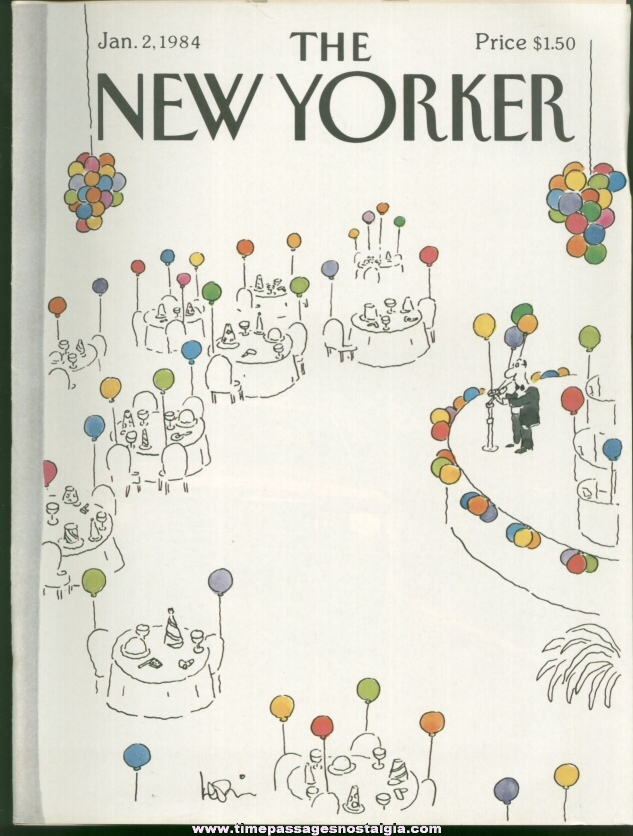 New Yorker Magazine - January 2, 1984 - Cover by Arnie Levin