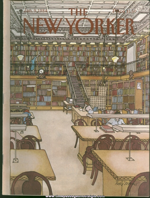 New Yorker Magazine - January 9, 1984 - Cover by Roxie Munro