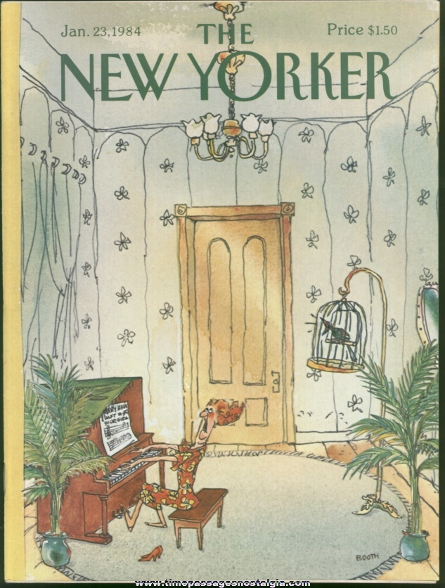 New Yorker Magazine - January 23, 1984 - Cover by George Booth