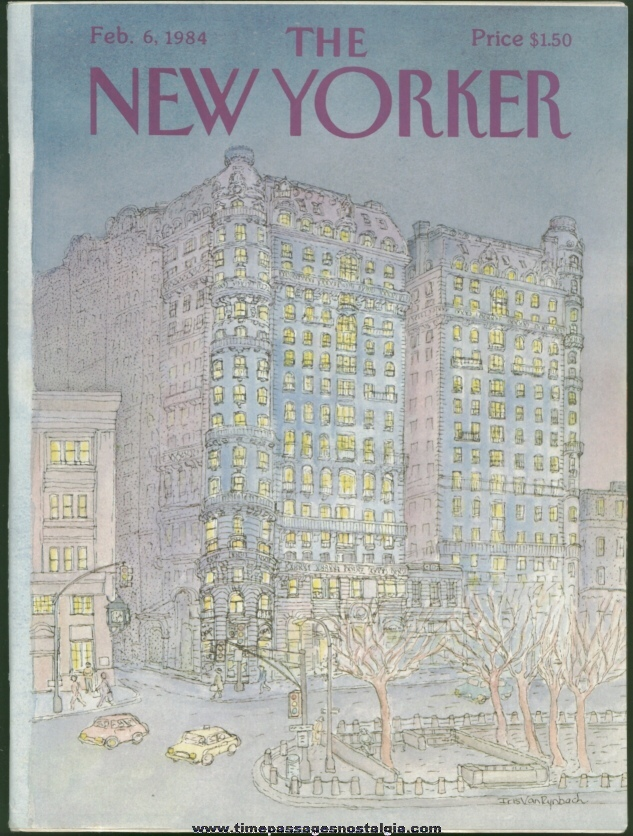 New Yorker Magazine - February 6, 1984 - Cover by Iris Van Rynbach