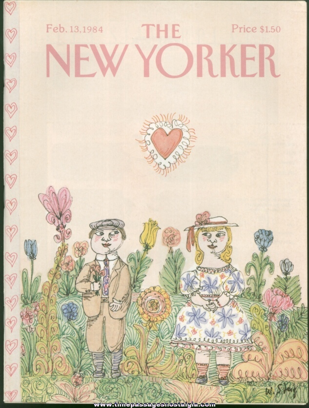 New Yorker Magazine - February 13, 1984 - Cover by William Steig