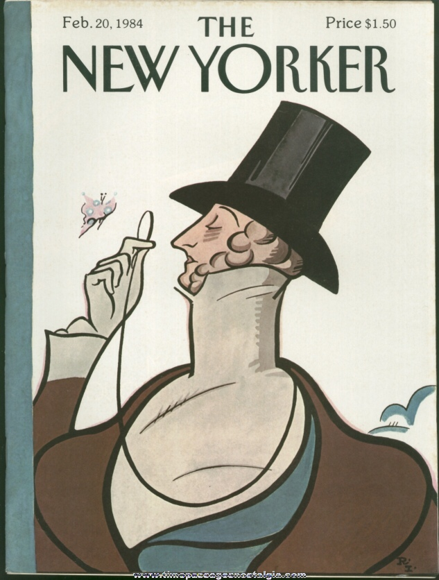 New Yorker Magazine - February 20, 1984 - Cover by Rea Irvin