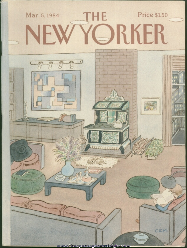 New Yorker Magazine - March 5, 1984 - Cover by Charles E. Martin