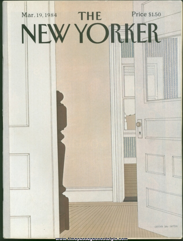 New Yorker Magazine - March 19, 1984 - Cover by Gretchen Dow Simpson
