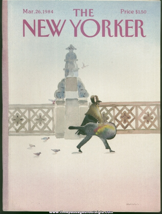 New Yorker Magazine - March 26, 1984 - Cover by Susan Davis
