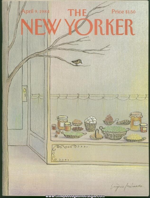New Yorker Magazine - April 9, 1984 - Cover by Eugene Mihaesco