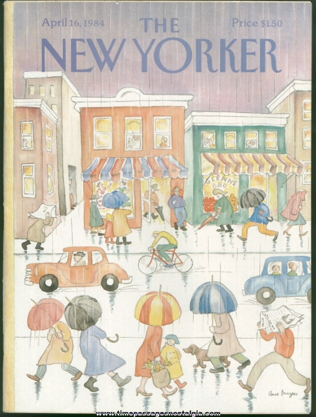 New Yorker Magazine - April 16, 1984 - Cover by Anne Burgess