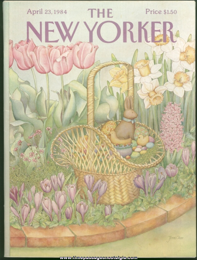 New Yorker Magazine - April 23, 1984 - Cover by Jenni Oliver