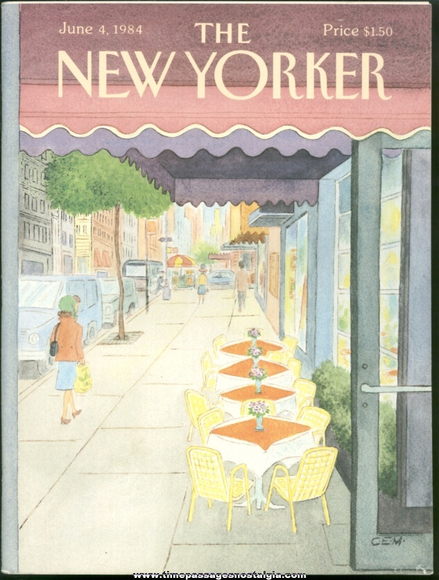 New Yorker Magazine - June 4, 1984 - Cover by Charles E. Martin