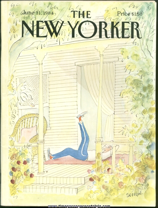 New Yorker Magazine - June 11, 1984 - Cover by J. J. Sempe