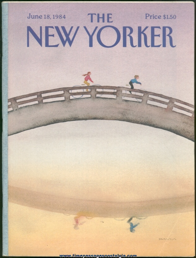 New Yorker Magazine - June 18, 1984 - Cover by Susan Davis
