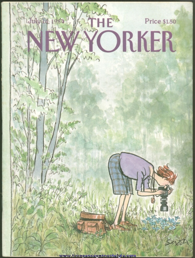 New Yorker Magazine - July 16, 1984 - Cover by Charles Saxon