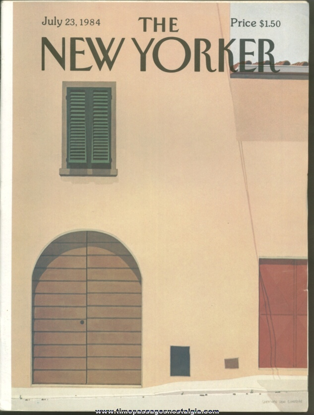 New Yorker Magazine - July 23, 1984 - Cover by Gretchen Dow Simpson