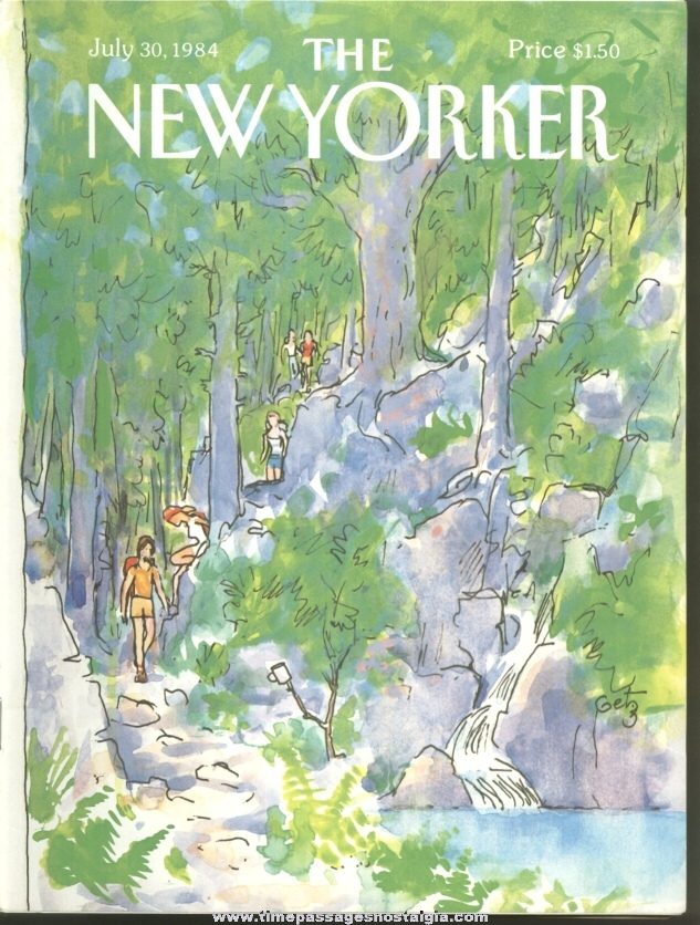 New Yorker Magazine - July 30, 1984 - Cover by Arthur Getz
