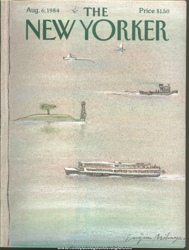 New Yorker Magazine - August 6, 1984 - Cover by Eugene Mihaesco