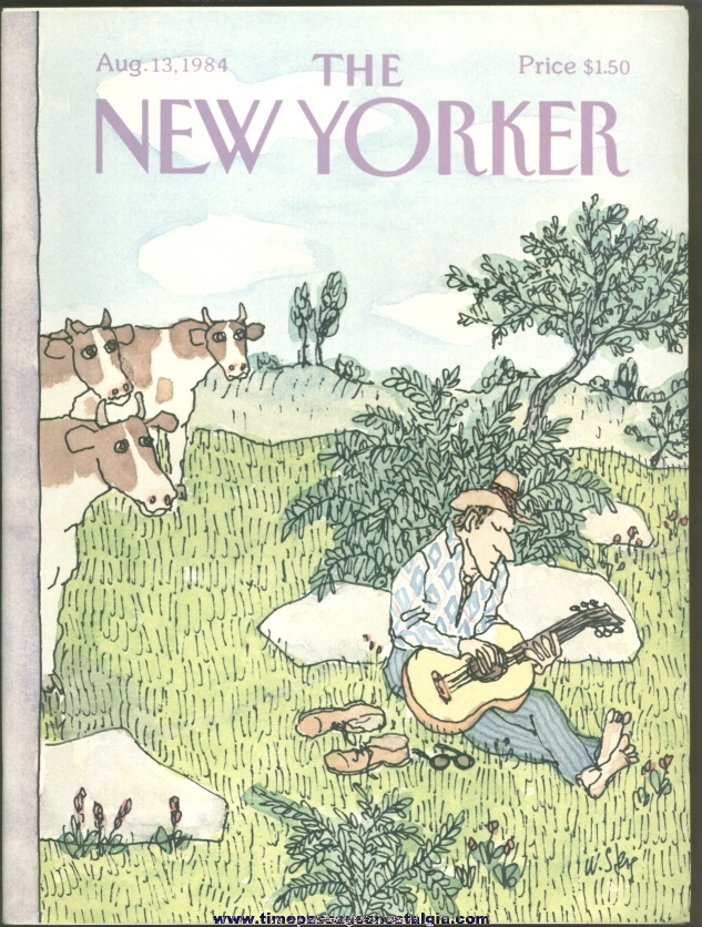 New Yorker Magazine - August 13, 1984 - Cover by William Steig