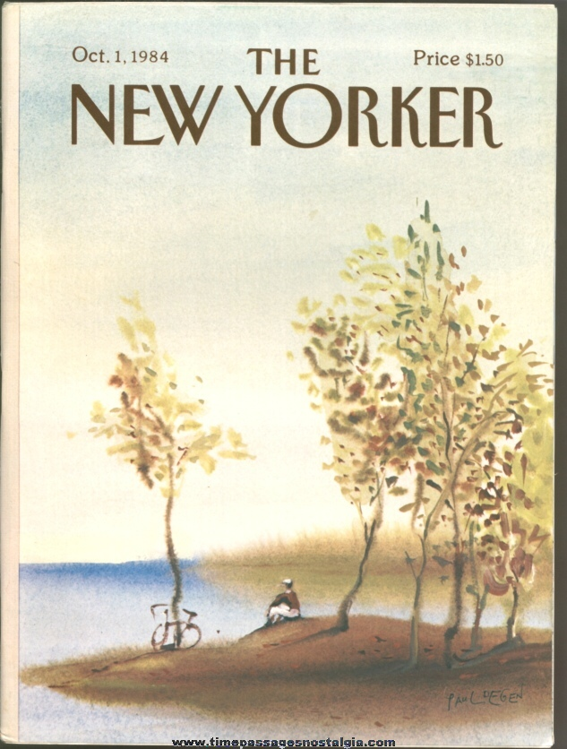 New Yorker Magazine - October 1, 1984 - Cover by Paul Degen