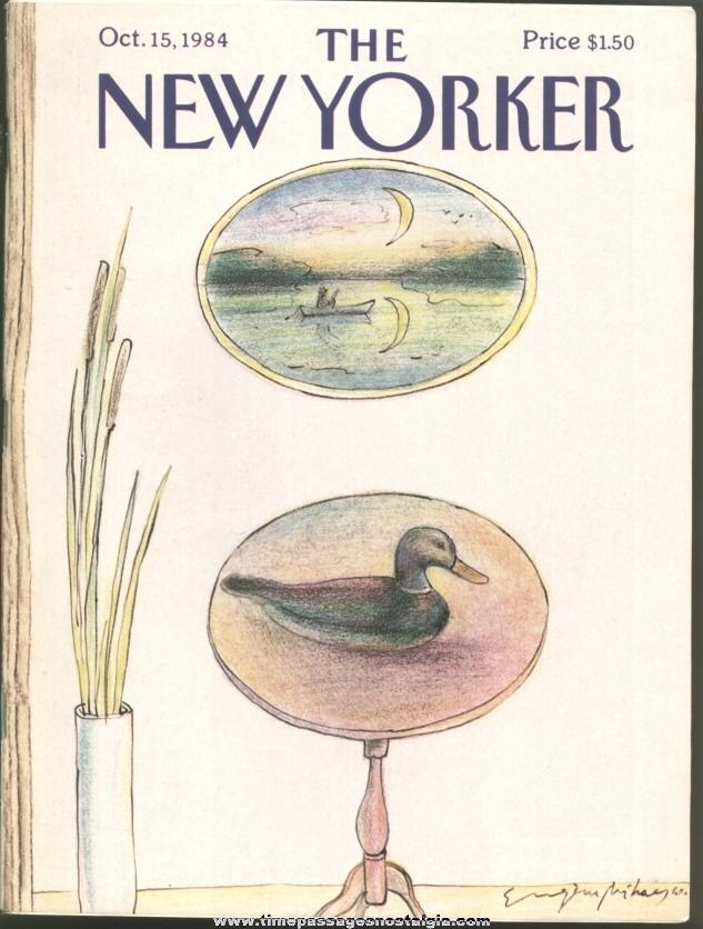 New Yorker Magazine - October 15, 1984 - Cover by Eugene Mihaesco