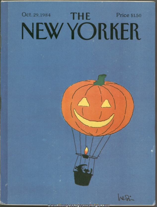 New Yorker Magazine - October 29, 1984 - Cover by Arnie Levin