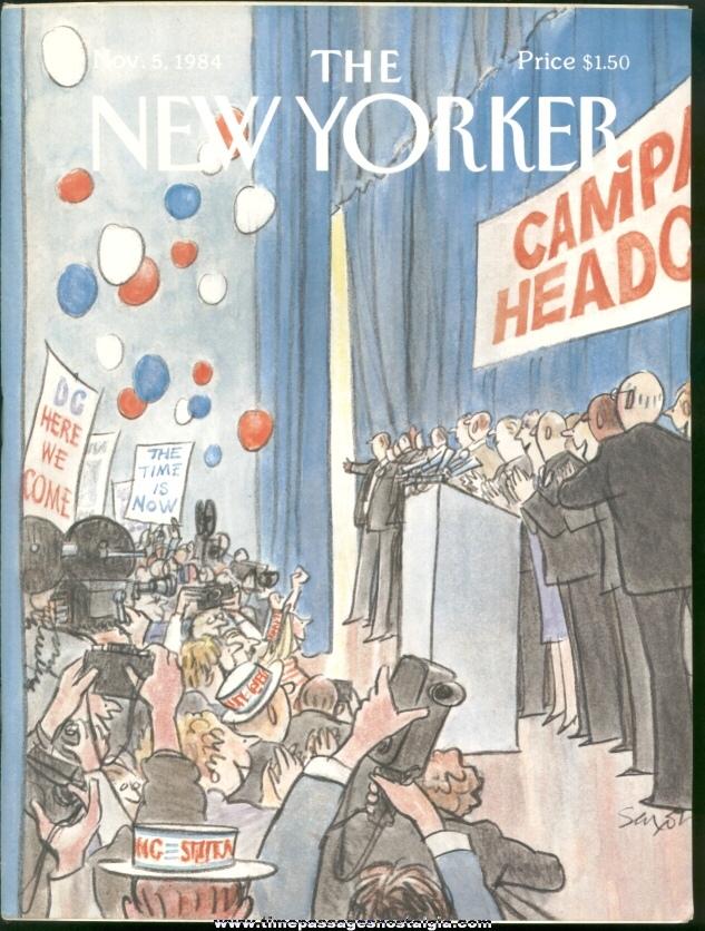 New Yorker Magazine - November 5, 1984 - Cover by Charles Saxon