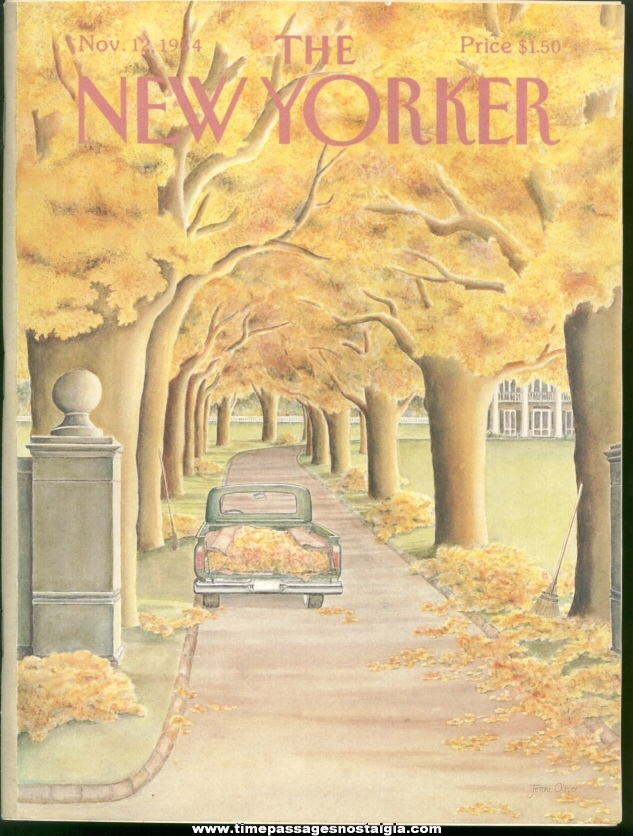 New Yorker Magazine - November 12, 1984 - Cover by Jenni Oliver