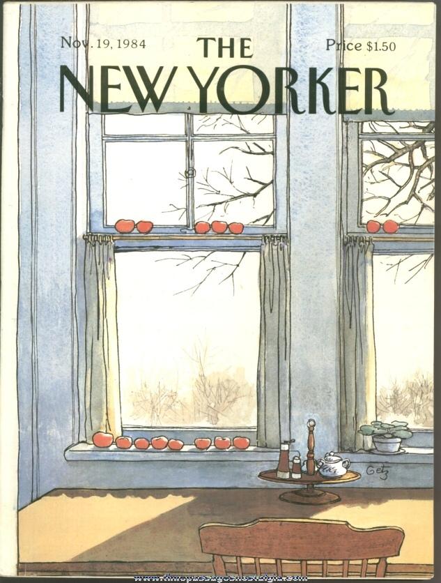 New Yorker Magazine - November 19, 1984 - Cover by Arthur Getz